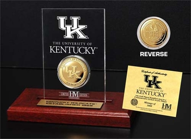 Kentucky Wildcats University of Kentucky 24KT Gold Coin Etched Acrylic
