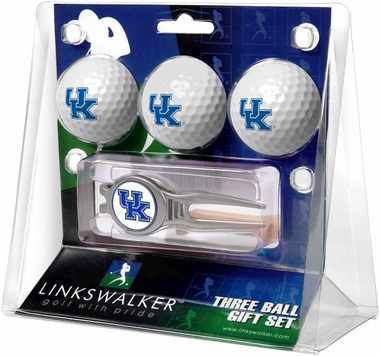 Kentucky 3 Ball Gift Pack With Kool Tool