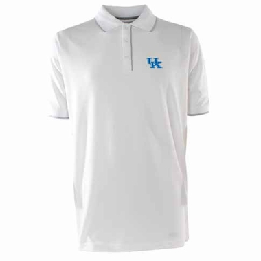 Kentucky Mens Elite Polo Shirt (Color: White)
