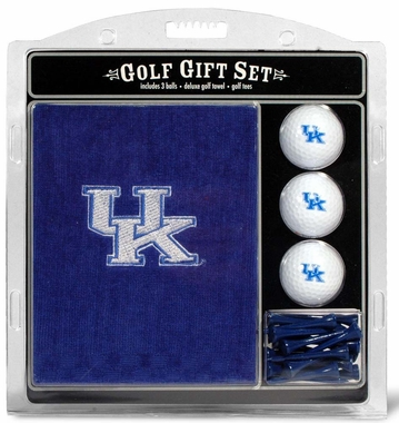 Kentucky Embroidered Towel Golf Gift Set