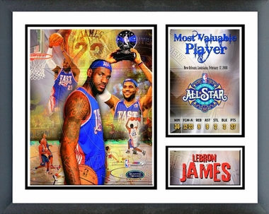 Lebron James 2008 All-Star Game MVP Framed Milestones & Memories