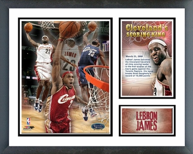 Lebron James 2008 Cavalier's All-Time Leading Scorer Framed Milestones & Memories