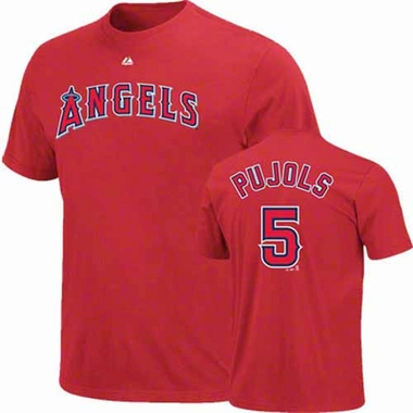 Los Angeles Albert Pujols Angels YOUTH Player T-Shirt - Red