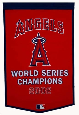 "Los Angeles Angels 24""x36"" Dynasty Wool Banner"