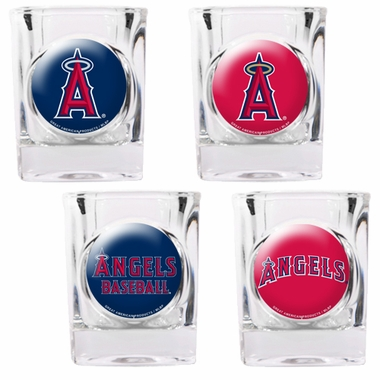 Los Angeles Angels 4 Piece Assorted Shot Glass Set