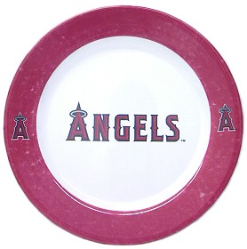 Los Angeles Angels of Anaheim 4 Piece Dinner Plate Set