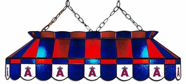Los Angeles Angels 40 Inch Rectangular Stained Glass Billiard Light