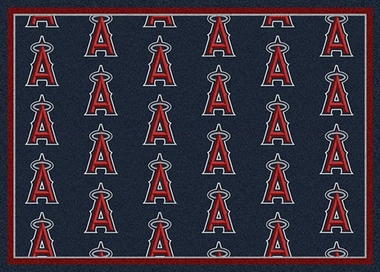 "Los Angeles Angels 7'8 x 10'9"" Premium Pattern Rug"