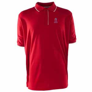 Los Angeles Angels Mens Elite Polo Shirt (Color: Red) - Large