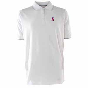 Los Angeles Angels Mens Elite Polo Shirt (Color: White) - Large