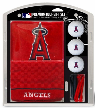 Los Angeles Angels Embroidered Towel Golf Gift Set