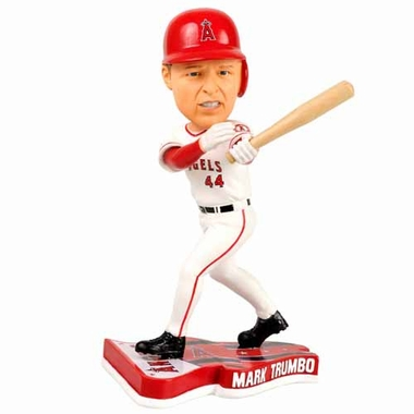 Los Angeles Angels Mark Trumbo 2013 Pennant Base Bobblehead Figurine