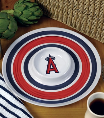 Los Angeles Angels Plastic Chip and Dip Plate