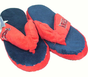 Los Angeles Angels Plush Thong Slippers - Large
