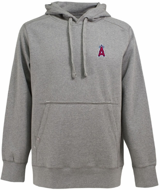 Los Angeles Angels Mens Signature Hooded Sweatshirt (Color: Silver)