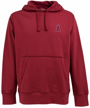 Los Angeles Angels Mens Signature Hooded Sweatshirt (Color: Red)