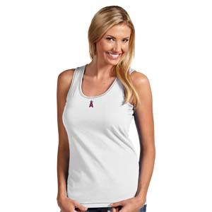 Los Angeles Angels Womens Sport Tank Top (Color: White) - X-Large