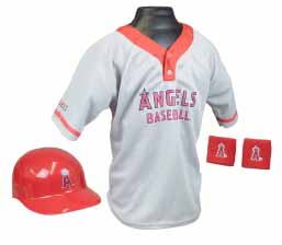 Los Angeles Angels of Anaheim Baseball Helmet and Jersey Set