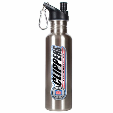 Los Angeles Clippers 26oz Stainless Steel Water Bottle (Silver)