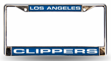 Los Angeles Clippers Laser Etched Chrome License Plate Frame