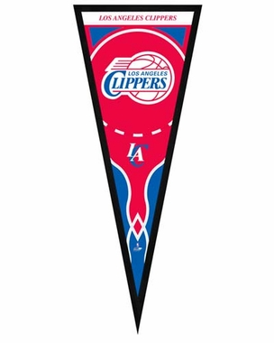 "Los Angeles Clippers Pennant Frame -13"" x 33"" (No Glass)"