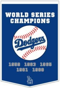"Los Angeles Dodgers 24""x36"" Dynasty Wool Banner"