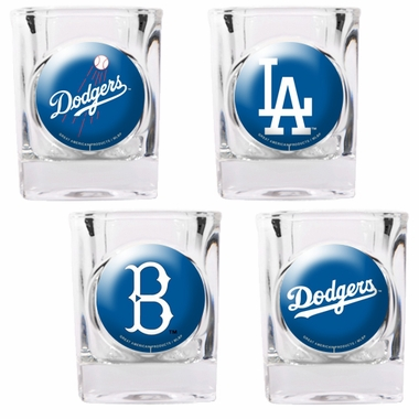 Los Angeles Dodgers 4 Piece Assorted Shot Glass Set