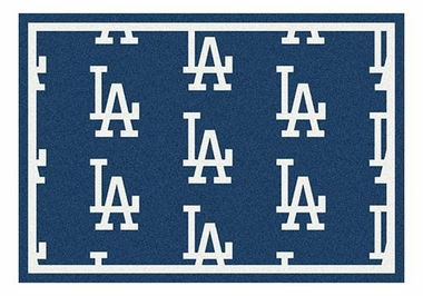 "Los Angeles Dodgers 5'4"" x 7'8"" Premium Pattern Rug"