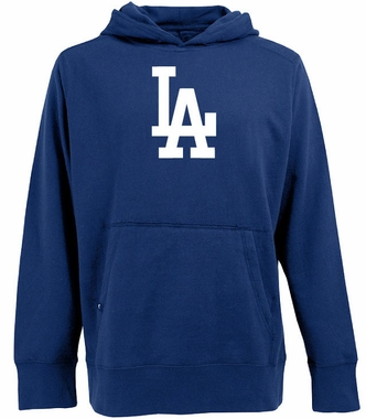 Los Angeles Dodgers Mens Big Logo Signature Hooded Sweatshirt (Color: Blue)