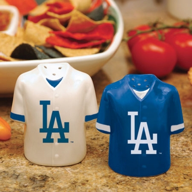 Los Angeles Dodgers Ceramic Jersey Salt and Pepper Shakers