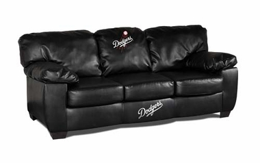 Los Angeles Dodgers Leather Classic Sofa
