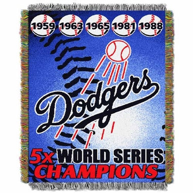 Los Angeles Dodgers Commerative Jacquard Woven Blanket