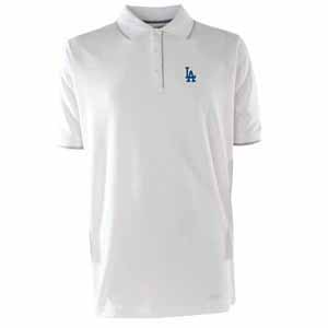 Los Angeles Dodgers Mens Elite Polo Shirt (Color: White) - Small