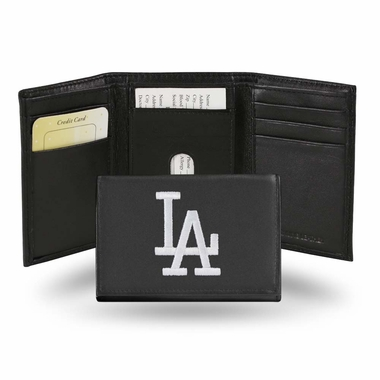 Los Angeles Dodgers Embroidered Leather Tri-Fold Wallet