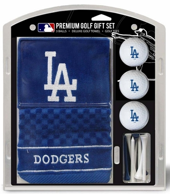 Los Angeles Dodgers Embroidered Towel Golf Gift Set