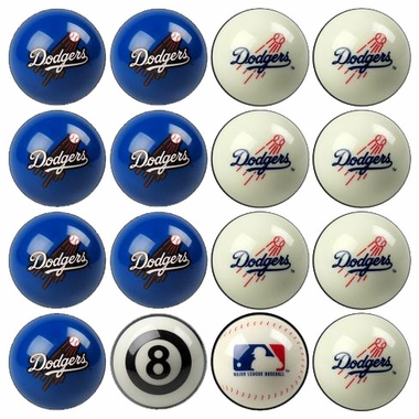 Los Angeles Dodgers Home and Away Complete Billiard Ball Set