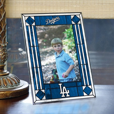 Los Angeles Dodgers Portrait Art Glass Picture Frame