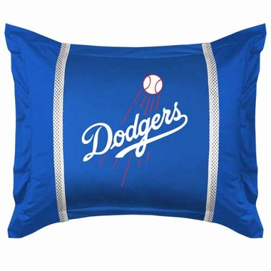 Los Angeles Dodgers SIDELINES Jersey Material Pillow Sham