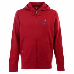 Los Angeles Dodgers Mens Signature Full Zip Hooded Sweatshirt (Color: Red) - XXX-Large
