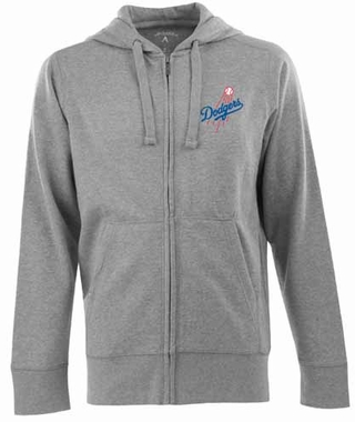 Los Angeles Dodgers Mens Signature Full Zip Hooded Sweatshirt (Color: Gray)