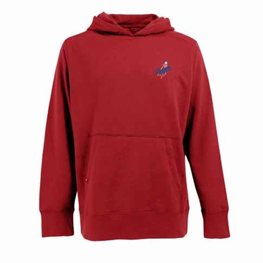 Los Angeles Dodgers Mens Signature Hooded Sweatshirt (Color: Red)