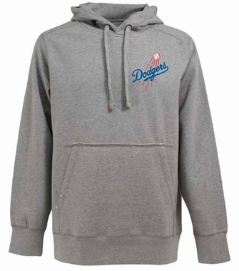 Los Angeles Dodgers Mens Signature Hooded Sweatshirt (Color: Silver)