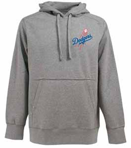 Los Angeles Dodgers Mens Signature Hooded Sweatshirt (Color: Silver) - Large