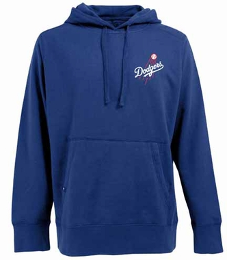 Los Angeles Dodgers Mens Signature Hooded Sweatshirt (Color: Royal)