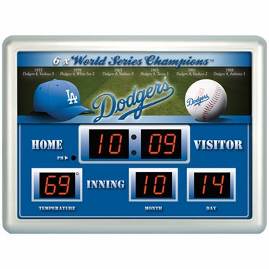 Los Angeles Dodgers Time / Date / Temp. Scoreboard