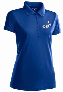 Los Angeles Dodgers Womens Pique Xtra Lite Polo Shirt (Color: Red)