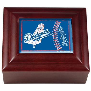Los Angeles Dodgers Wooden Keepsake Box