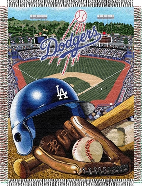 Los Angeles Dodgers Woven Tapestry Throw Blanket