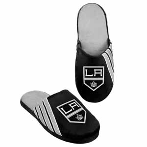 Los Angeles Kings 2012 Team Stripe Logo Slippers - Medium