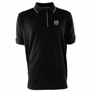 Los Angeles Kings Mens Elite Polo Shirt (Color: Black) - X-Large